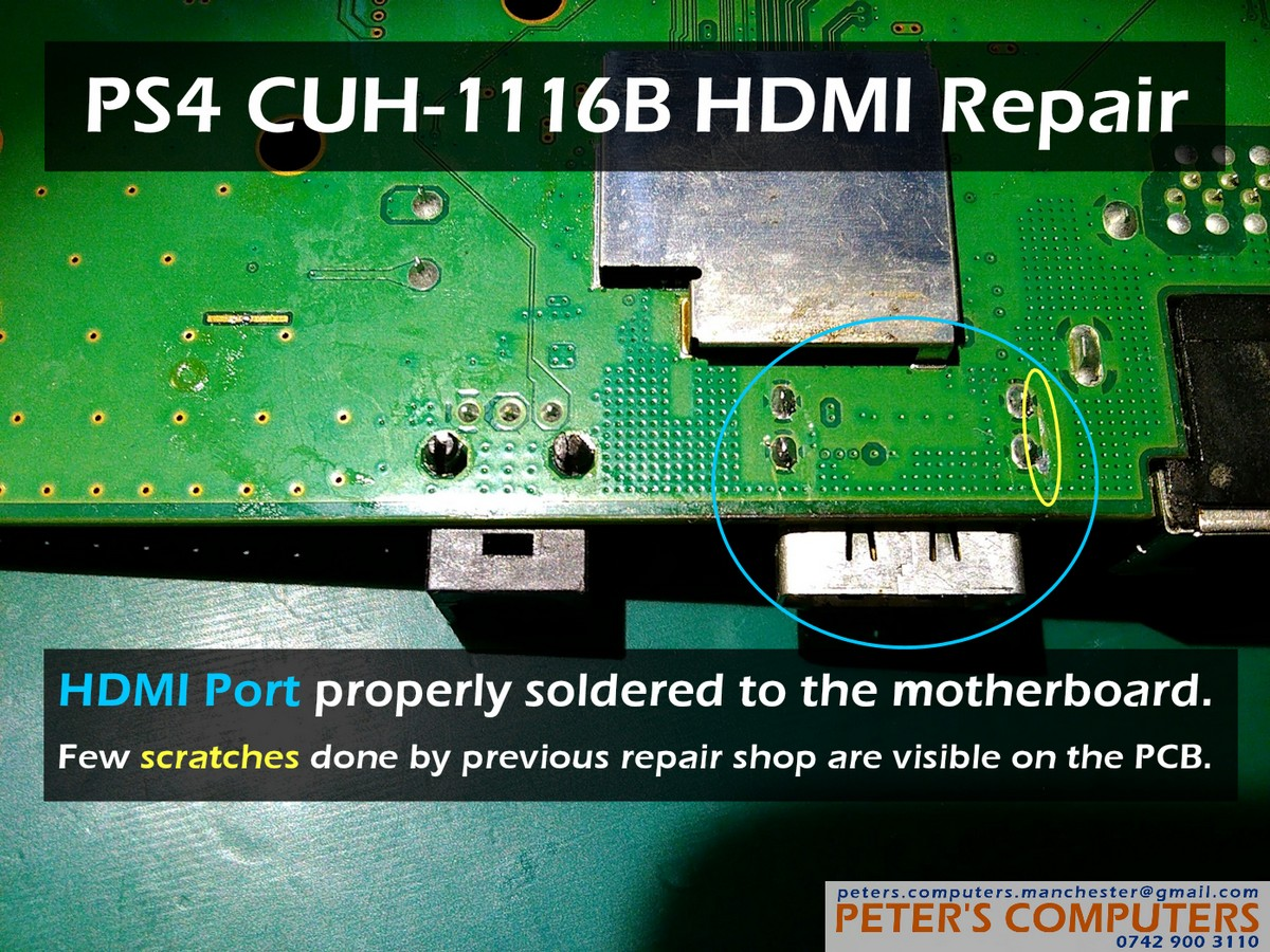 Sony PS4 CUH-1116B HDMI port replacement - Peter's Computers